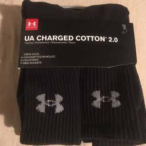 UNDER ARMOUR Charged 2.0 Cotton Crew Socks Sz XL